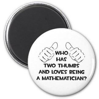 Aimant Deux pouces et amours étant un mathématicien