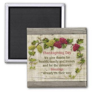 Aimant Devise de bénédictions de thanksgiving