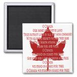 Aimant d'hymne du Canada d'aimant de réfrigérateur