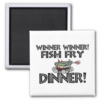 Aimant Dîner de friture de poissons de gagnant de gagnant