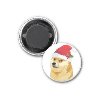 Aimant Doge de Noël - doge de père Noël - chien de Noël