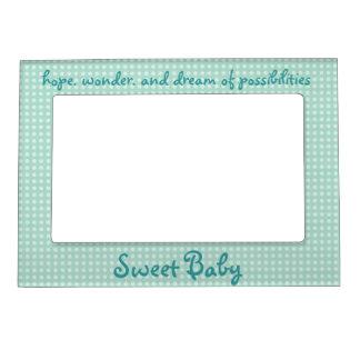 Aimant doux de cadre de tableau de bébé cadres photo magétiques