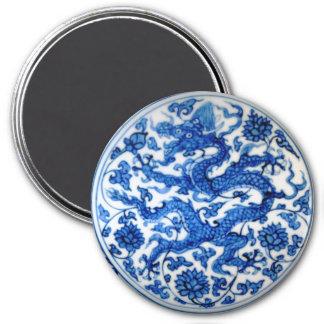 Aimant Dragon bleu