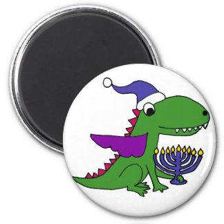 Aimant Dragon frais drôle et art heureux de Menorah