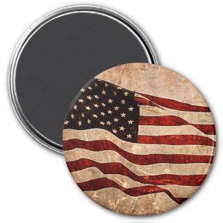 Aimant Drapeau américain rustique - copie patriotique