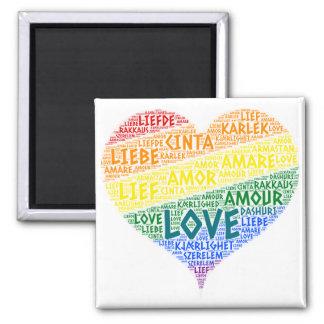 Aimant Drapeau de foyer d'arc-en-ciel de LGBT illustré