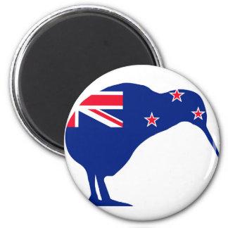 Aimant Drapeau de la Nouvelle Zélande avec la silhouette