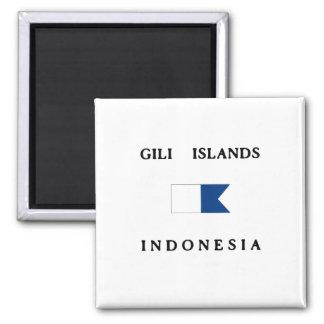 Aimant Drapeau de piqué de l'Indonésie d'îles de Gili