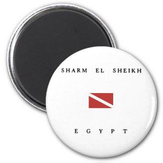 Aimant Drapeau de piqué de scaphandre de l'Egypte de