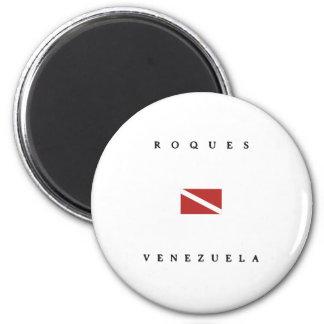 Aimant Drapeau de piqué de scaphandre de Roques Venezuela