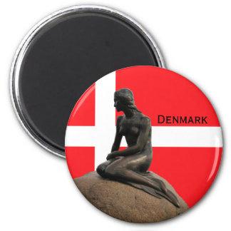Aimant Drapeau et sirène du Danemark