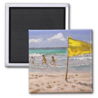 Aimant Drapeau jaune Barbade 2010