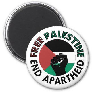 Aimant Drapeau libre de la Palestine d'apartheid de fin