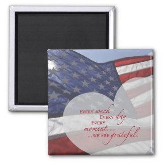 Aimant Drapeau patriotique de coeur, appréciation