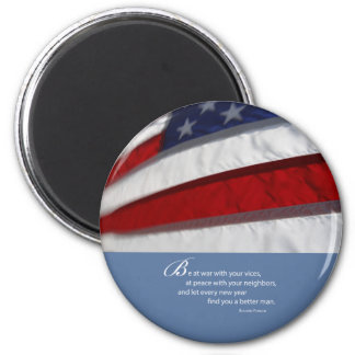 Aimant Drapeau patriotique et américain