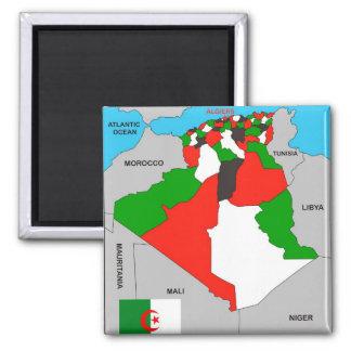 Aimant drapeau politique de carte de pays de l'Algérie
