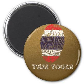 Aimant Drapeau thaïlandais d'empreinte digitale de
