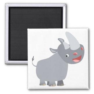 Aimant drôle de rhinocéros de bande dessinée