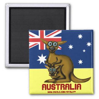 Aimant drôle mignon de l'Australie de kangourou