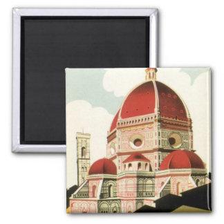 Aimant Duomo vintage d'église de Florence Firenze Italie