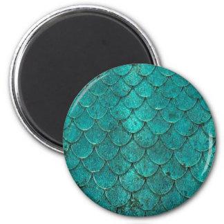Aimant Échelles turquoises bleues de sirène