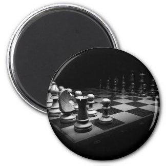 Aimant Échiquier blanc noir du Roi de pièces d'échecs