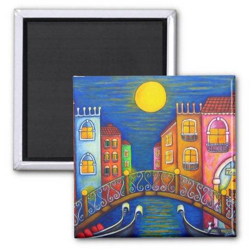 Aimant éclairé par la lune de Venise