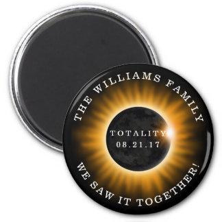 Aimant Éclipse solaire de totalité de famille