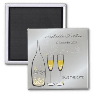 Aimant Économies d'argent de bulles de Champagne l'aimant