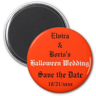 Aimant Économies de mariage de Halloween la date