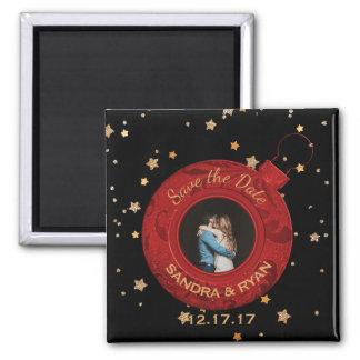 Aimant Économies de mariage de Noël les étoiles rouges