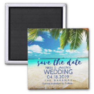 Aimant Économies de mariage de plage des Bahamas le