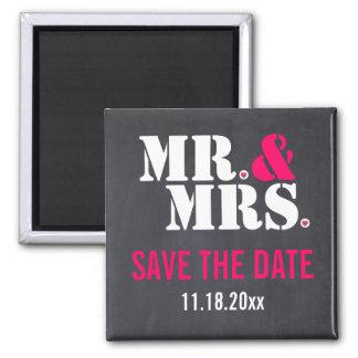 Aimant Économies de mariage de typographie de M. et de
