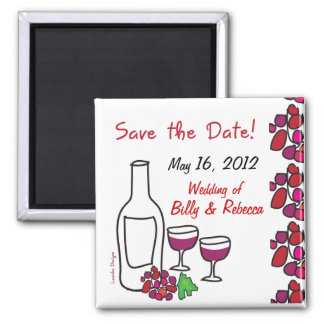 Aimant Économies de mariage de vignoble de vin rouge