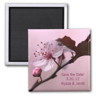 Aimant Économies personnalisables de fleurs de cerisier