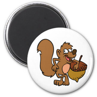 Aimant Écureuil de bande dessinée avec l'écrou