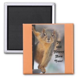 Aimant Écureuil de bonne année