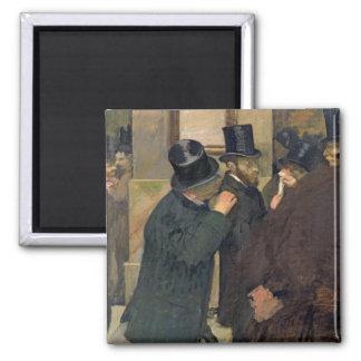 Aimant Edgar Degas | à la bourse des valeurs, c.1878-79