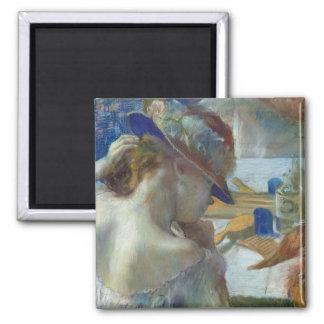 Aimant Edgar Degas | devant le miroir, 1889
