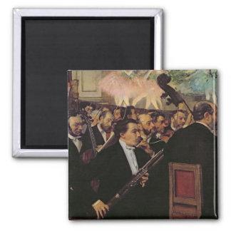Aimant Edgar Degas | l'orchestre d'opéra, c.1870