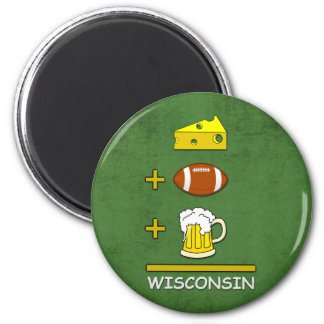 Aimant Égal le Wisconsin de bière du football de fromage
