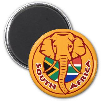 Aimant Éléphant de drapeau de l'Afrique du Sud
