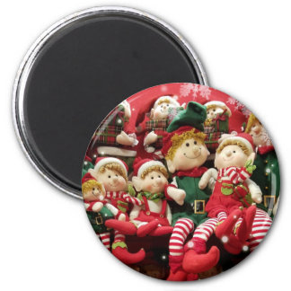 Aimant Elfes de Joyeux Noël