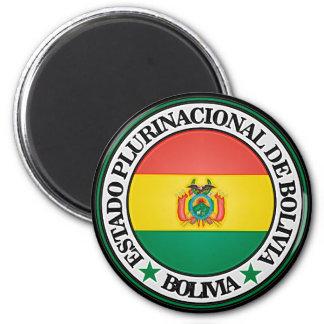 Aimant Emblème rond de la Bolivie