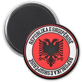 Aimant Emblème rond de l'Albanie