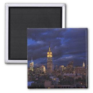 Aimant Empire State Building en ciel jaune et