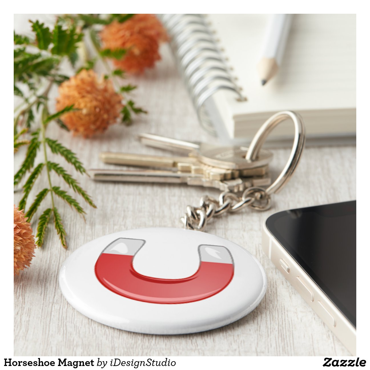 aimant en fer cheval porte cl rond zazzle. Black Bedroom Furniture Sets. Home Design Ideas