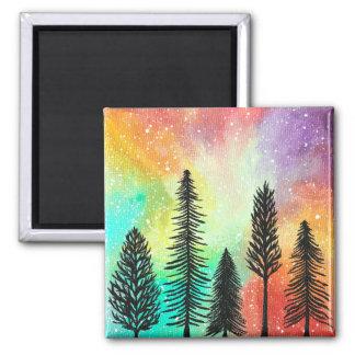 Aimant en pastel de galaxie de pin, peinture d'art