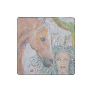 Aimant en pierre de cheval et de femme
