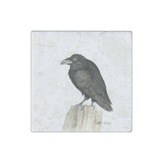 Aimant en pierre de marbre trapu de Raven